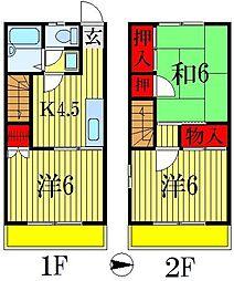 [テラスハウス] 千葉県船橋市前貝塚町 の賃貸【/】の間取り