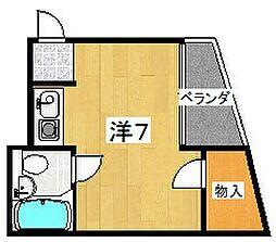 美都マンション[4階]の間取り