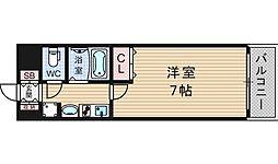エステムコート難波センチュリオ[9階]の間取り