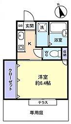 クレールKOBAYASHI[1階]の間取り