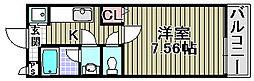 センペル・リンクウ[201号室]の間取り