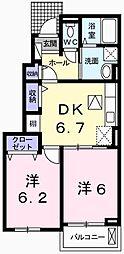 エスペランサ香寺[01060号室]の間取り