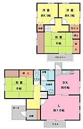 [一戸建] 千葉県四街道市つくし座2丁目 の賃貸【/】の間取り