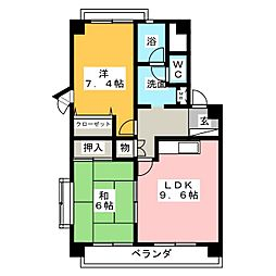 プリーマ大田川[3階]の間取り