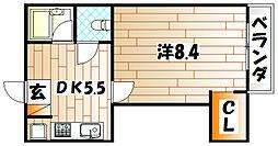 faire briller黒崎 (フェールブリエ黒崎)[2階]の間取り