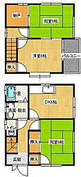 [一戸建] 広島県福山市緑陽町1丁目 の賃貸【/】の間取り