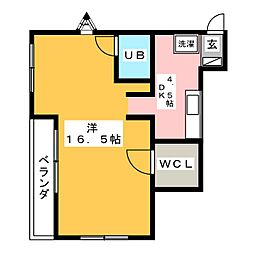 太陽ガーデンハウス114[1階]の間取り