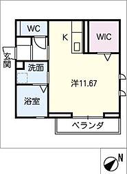 仮)D-room若松町 3階ワンルームの間取り