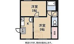 大宝南マンション[2階]の間取り