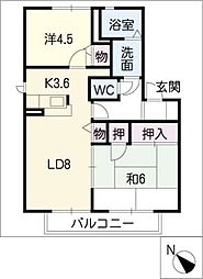 H・翔・さつき館[1階]の間取り