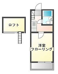 パークハイムII[2階]の間取り