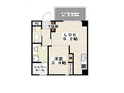 (仮)小禄112番 新築 3階1LDKの間取り
