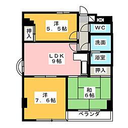 リバーサイド犬山[4階]の間取り