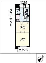 K'sガーデン[7階]の間取り
