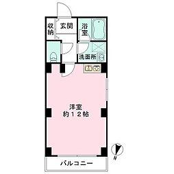 東京都港区浜松町1丁目の賃貸マンションの間取り