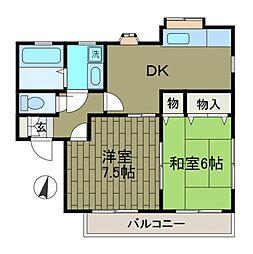 コーポシマヌキ[2階]の間取り