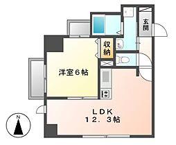 P−SQUARE Shumoku[3階]の間取り