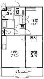 静岡県浜松市西区舞阪町弁天島の賃貸マンションの間取り