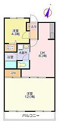グリーンタウン鶴ヶ島[3階]の間取り