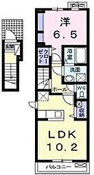 カーサ アルベロディピノA[2階]の間取り