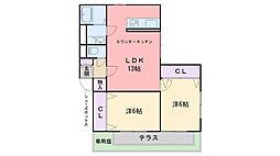 福岡県福岡市西区拾六町1丁目の賃貸アパートの間取り