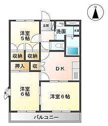 コーポサンフィット[2階]の間取り