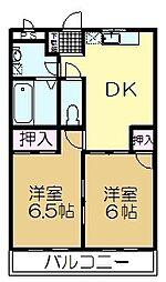 千葉県印旛郡酒々井町酒々井の賃貸アパートの間取り