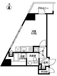 グレイス高輪タワー[6階]の間取り