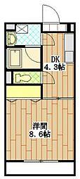 バートハイム伊藤II[3階]の間取り