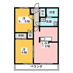 住彩苑[3階]の間取り