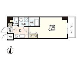 MOKA-eSTAII 9階1Kの間取り