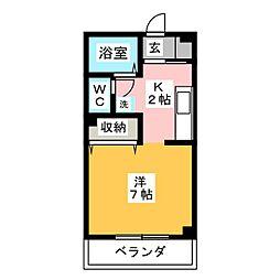 コンフォート若葉[2階]の間取り