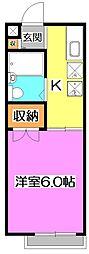 東京都練馬区谷原1丁目の賃貸アパートの間取り