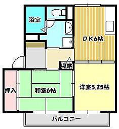 クレールA[1階]の間取り