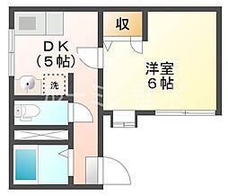 サニーパレス伊川谷[1階]の間取り