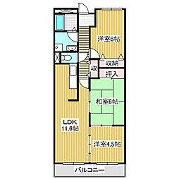 愛知県名古屋市港区入場1丁目の賃貸マンションの間取り