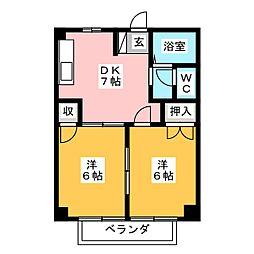 静岡県静岡市清水区大内新田の賃貸マンションの間取り