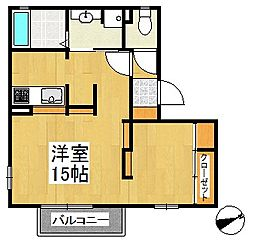 プロシアB棟[1階]の間取り