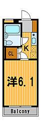 神奈川県横浜市鶴見区矢向5丁目の賃貸マンションの間取り