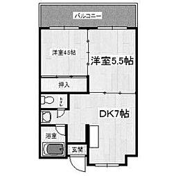 橋本第一綜合ビル[601号室]の間取り