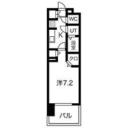 パルティール黒川アネックス 10階1Kの間取り
