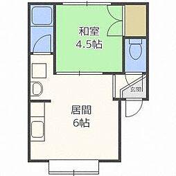 亜花沙ハイム[2階]の間取り