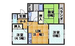 カーサIKUSHIMA[306号室]の間取り