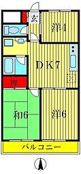 柴又第2STマンション[5階]の間取り