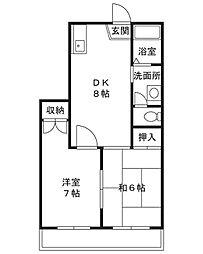エクシア泉[2階]の間取り