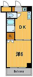 神奈川県横浜市西区久保町の賃貸マンションの間取り