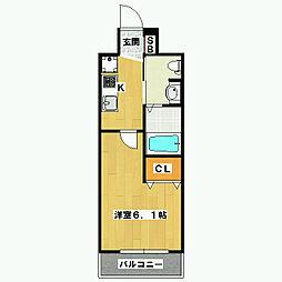 エステムプラザ京都御所ノ内REGIA[203号室]の間取り