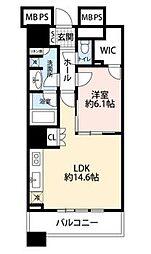 THE TOKYO TOWERS SEATOWER 11階1LDKの間取り