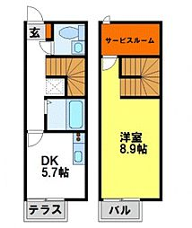 Soleil de 原田[107号室号室]の間取り