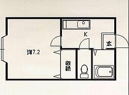 エステーラ東[1-F号室]の間取り